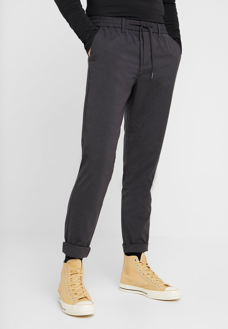Only & Sons - ONSDION PANT - Tygbyxor - dark grey melange
