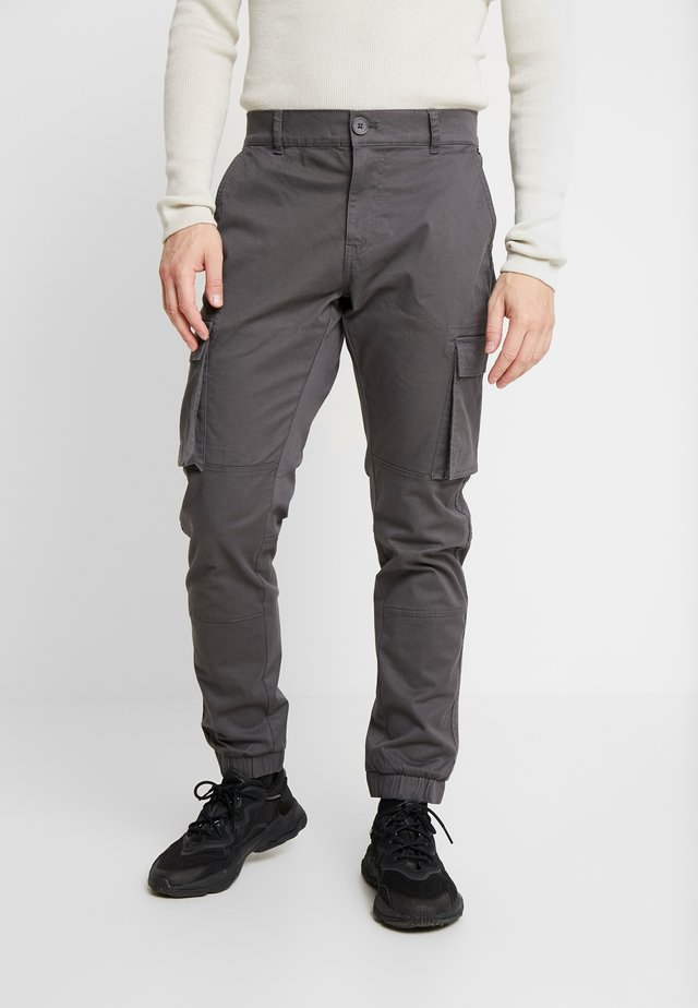 ONSCAM STAGE CARGO CUFF - Cargo trousers - grey pinstripe