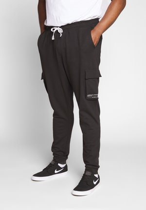 KENDRICK CHINO PRINT  - Tracksuit bottoms - black