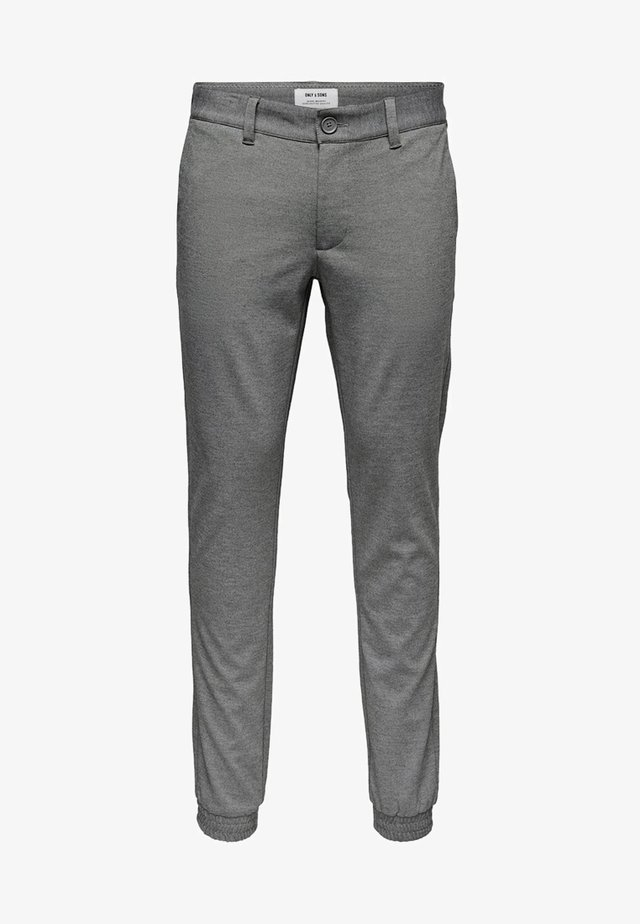 MARK BÜNDCHEN - Chinos - medium grey melange