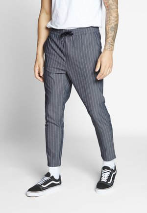 ONSLINUS CROP STRIPE  - Trousers - dark blue