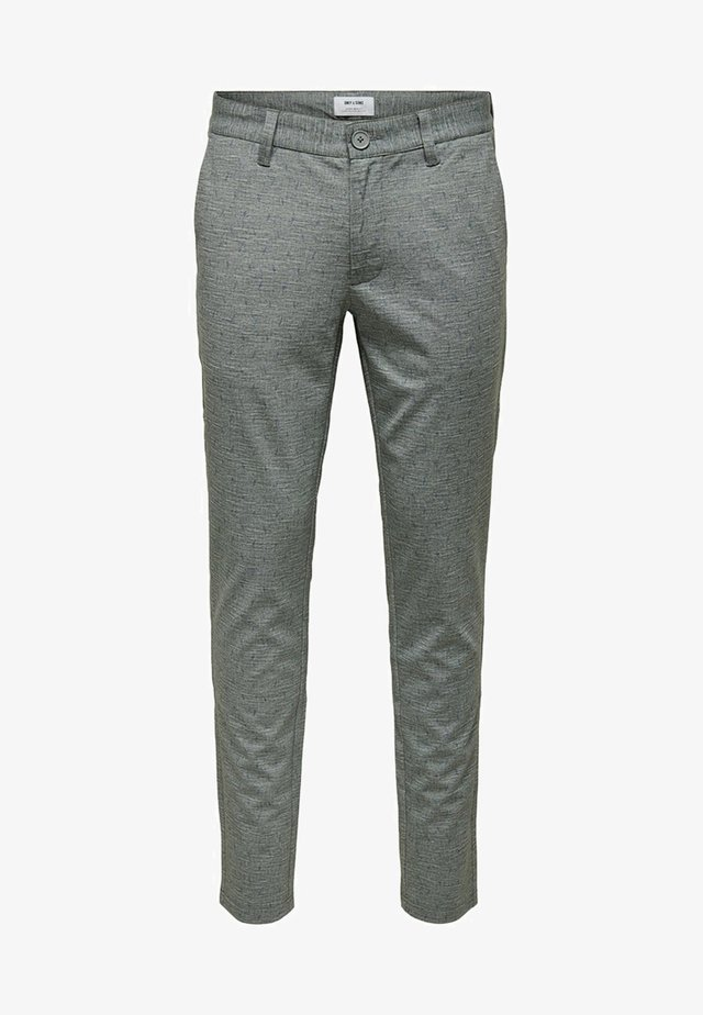 MARK - Chinos - medium grey melange