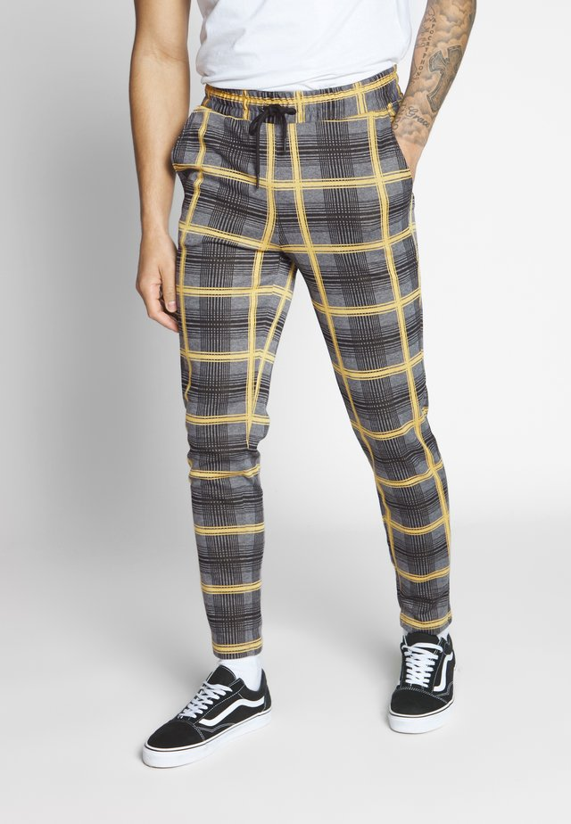 ONSDESMOND CHECK PANTS - Kangashousut - grey