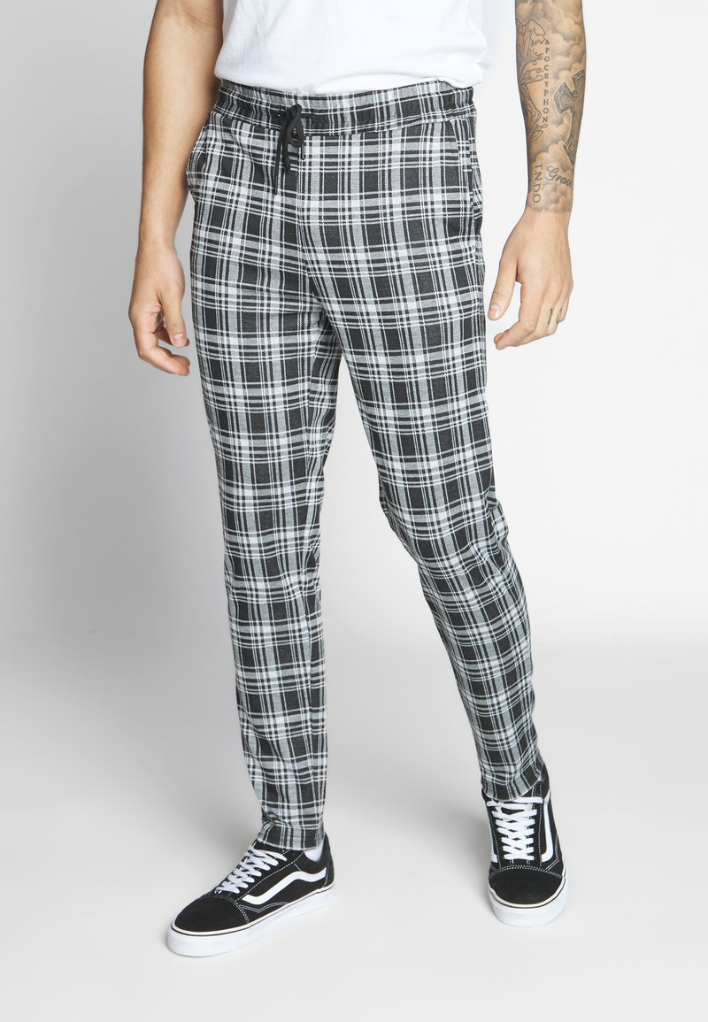Only & Sons - ONSDESMOND CHECK PANTS - Kalhoty - black/white
