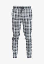 ONSDESMOND CHECK PANTS - Trousers - black/white