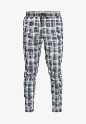 ONSDESMOND CHECK PANTS - Pantaloni - black/white