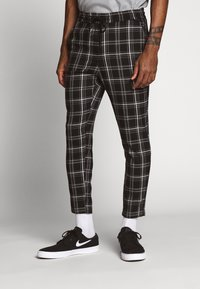 Only & Sons - ONSLINUS CHECK PANT - Broek - black - 0