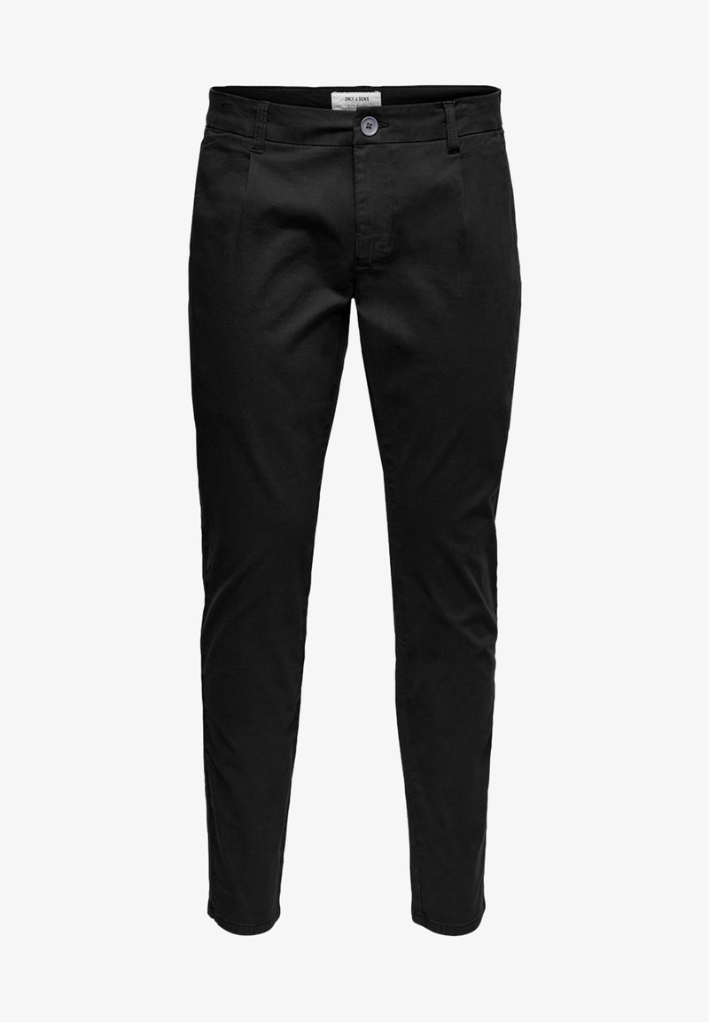 Only & Sons - EINFARBIGE - Pantalones chinos - black