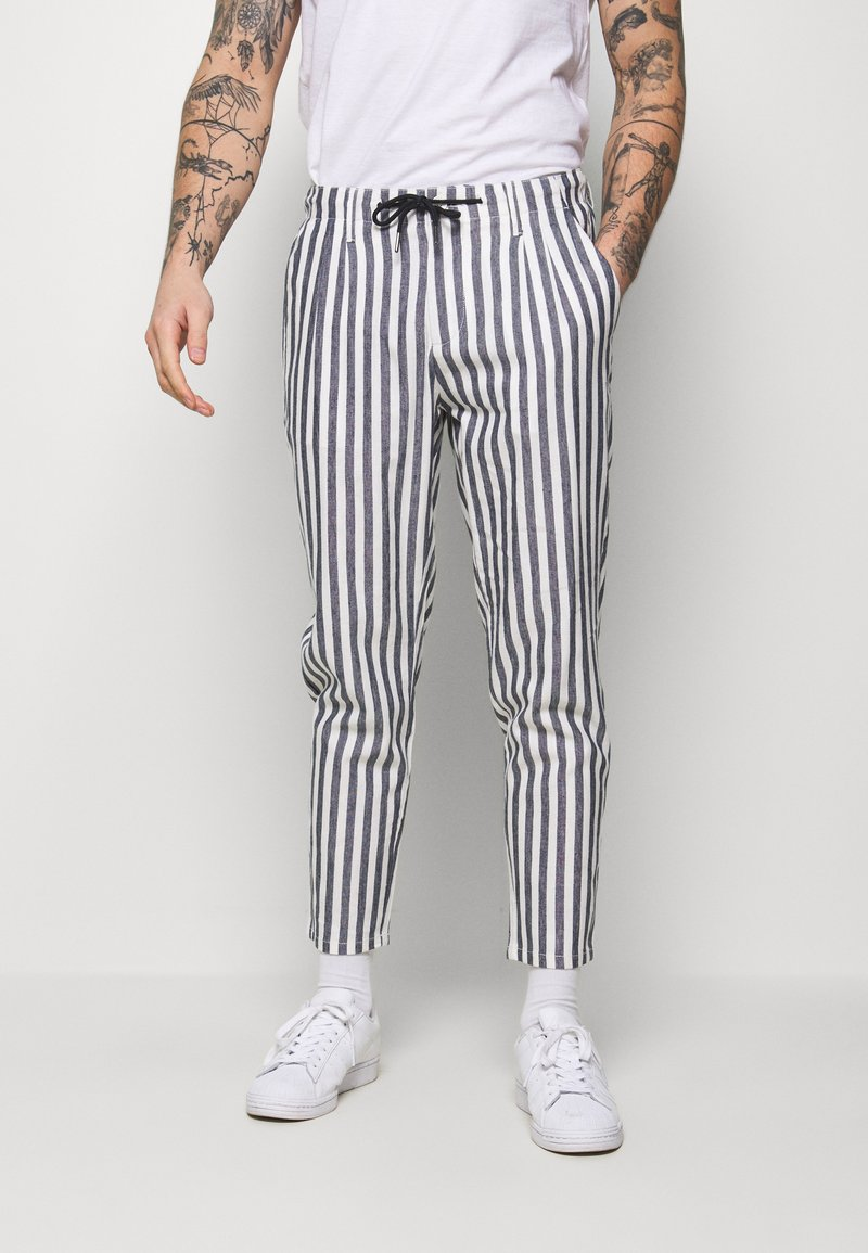 Only & Sons - ONSLEO STRIPE - Kalhoty - cloud dancer