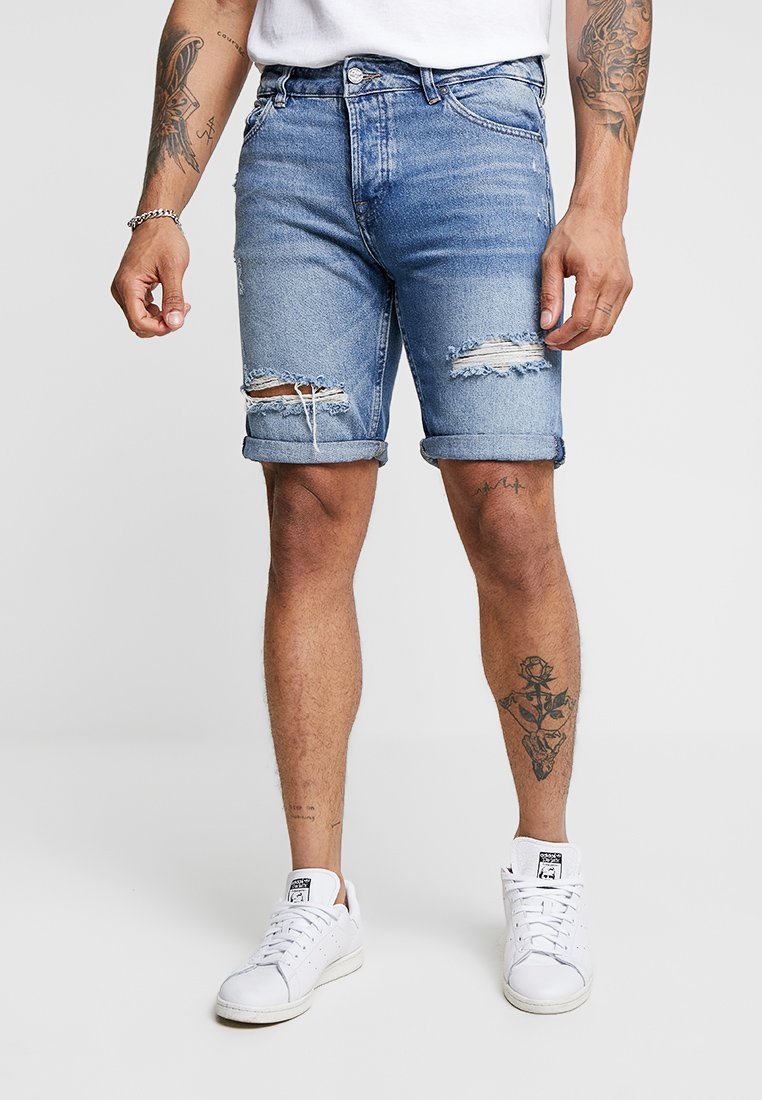 Only & Sons - ONSPLY DAMAGE - Jeans Shorts - blue denim