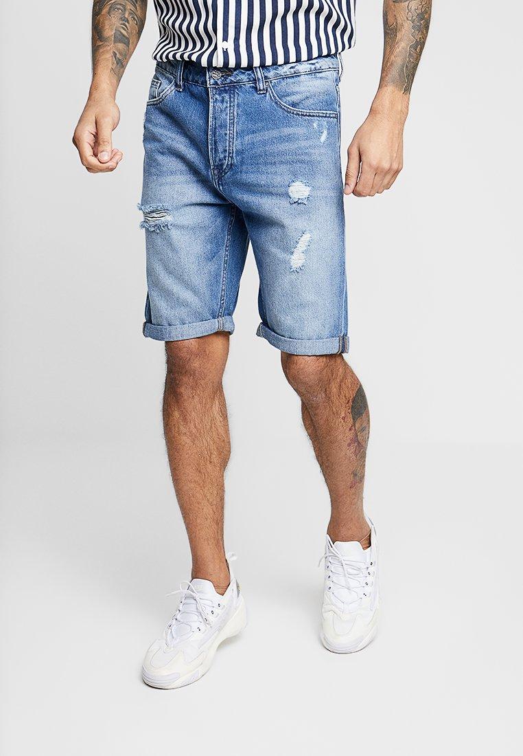 Only & Sons - ONSAVI BLUE  - Jeans Shorts - blue denim