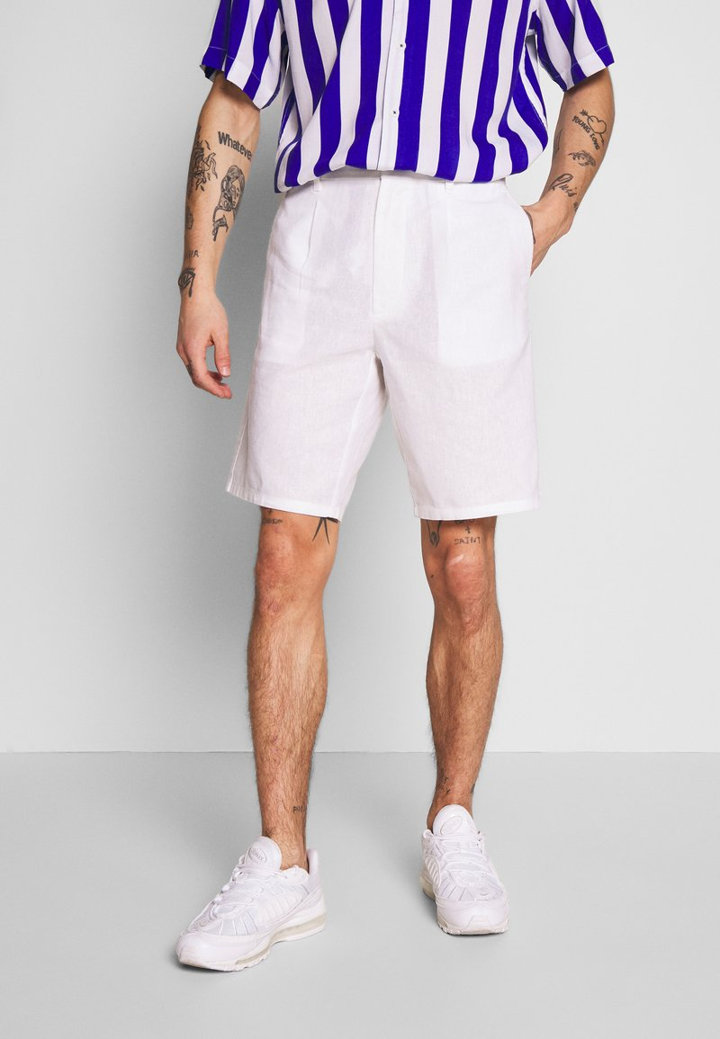 Only & Sons - ONSLOU LINEN MIX  SHORTS GW 3000 - Shorts - bright white
