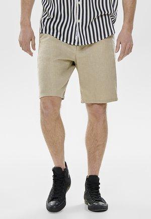 ONSLOU LINEN MIX  SHORTS GW 3000 - Short - beige