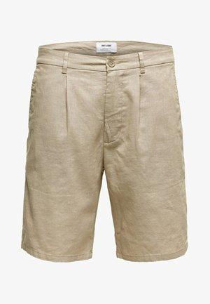 ONSLOU LINEN MIX  SHORTS GW 3000 - Shorts - beige
