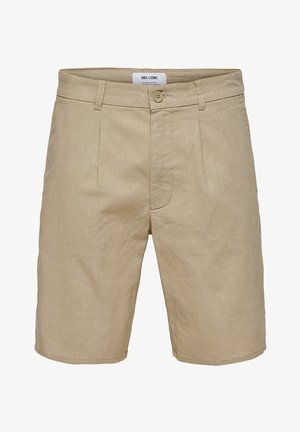 ONSLOU LINEN MIX  SHORTS GW 3000 - Shorts - chinchilla