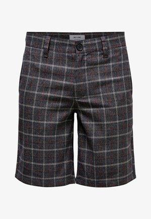 Shorts - dark grey melange