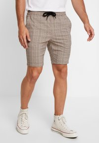 Only & Sons - ONSLINUS CHECK  - Shorts - chincilla - 0