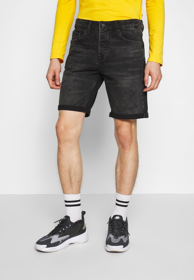 ONSAVI LOOSE  - Shorts di jeans - black denim