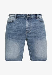 Only & Sons - ONSPLY REG RAW HEM ZIP - Denim shorts - blue denim - 3