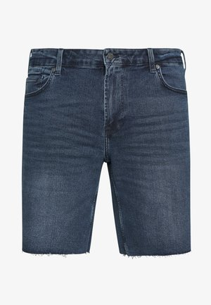 ONSPLY REG ZIP RAW HEM - Denim shorts - blue denim