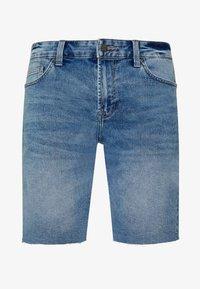 Only & Sons - ONSPLY RAW HEM ZIP  - Shorts vaqueros - blue denim - 3