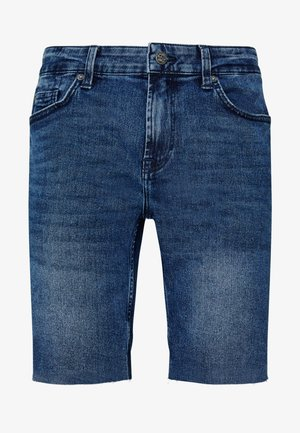 ONSPLY ZIP RAW HEM  - Szorty jeansowe - blue denim
