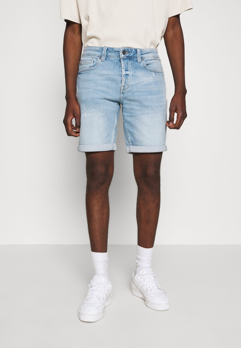 Only & Sons - ONSPLY - Denim shorts - blue denim