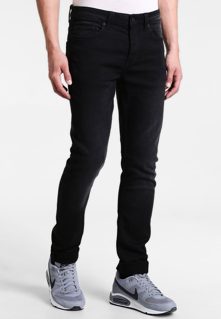 Only & Sons - ONSLOOM JOG - Slim fit jeans - black