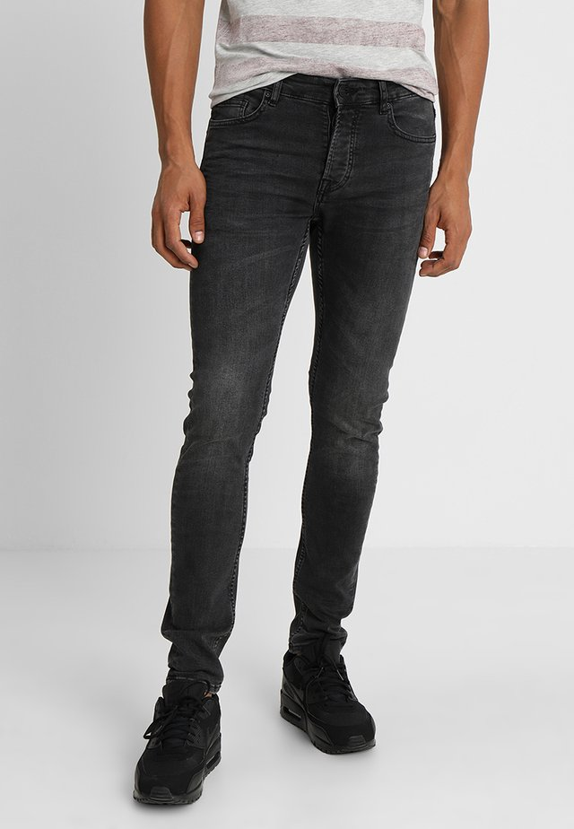 ONSLOOM BLACK WASHED - Slim fit -farkut - black denim