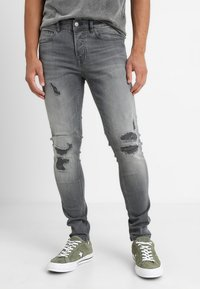Only & Sons - ONSSPUN - Jeansy Skinny Fit - grey denim - 0