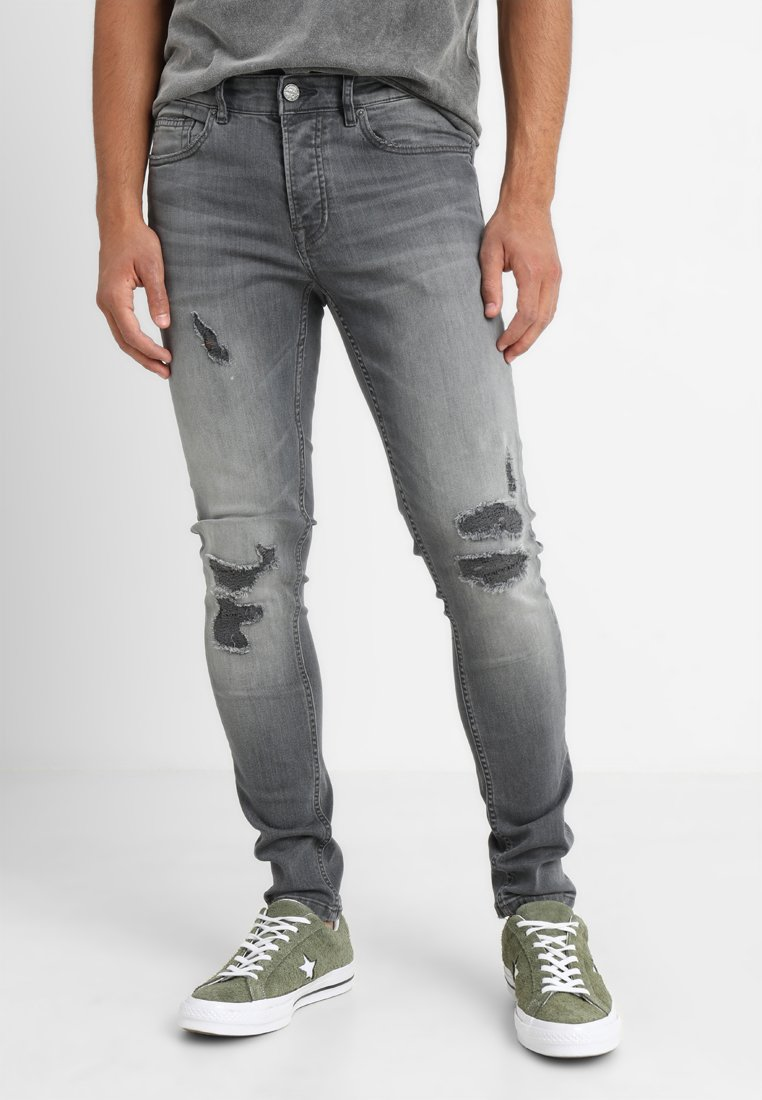 Only & Sons - ONSSPUN - Jeansy Skinny Fit - grey denim
