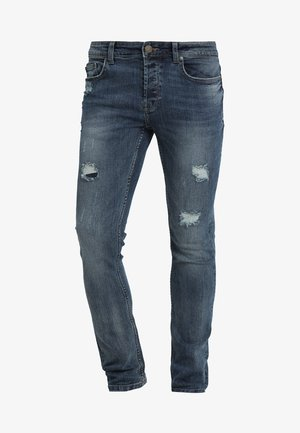 LOOM BREAKS - Džíny Slim Fit - dark blue denim