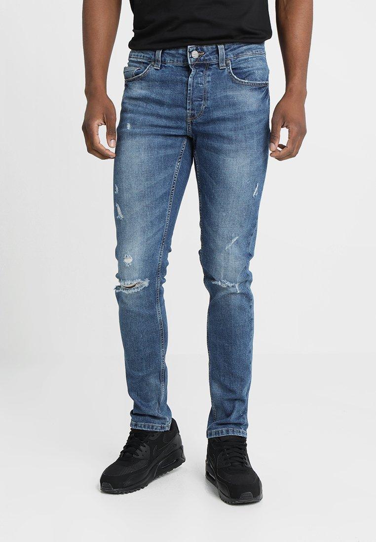 Only & Sons - ONSLOOM - Slim fit jeans - blue damaged