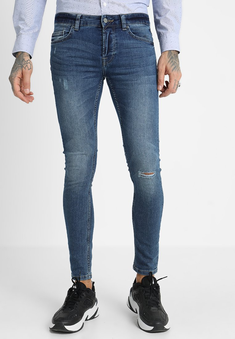 Only & Sons - ONSWARP CUT - Jeans Skinny Fit - blue
