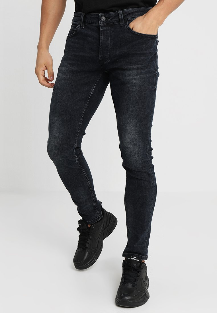 Only & Sons - ONSSPUN BLUE BLACK  - Jeansy Slim Fit - blue denim
