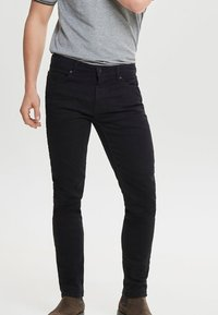 Only & Sons - Jeansy Slim Fit - black denim - 0