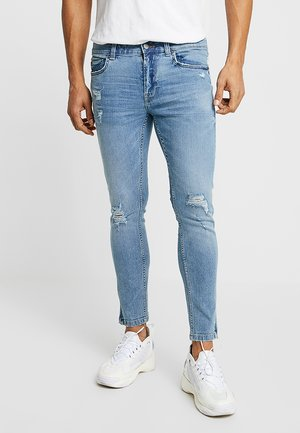 ONSWARP CROP STRIPE - Skinny džíny - blue denim
