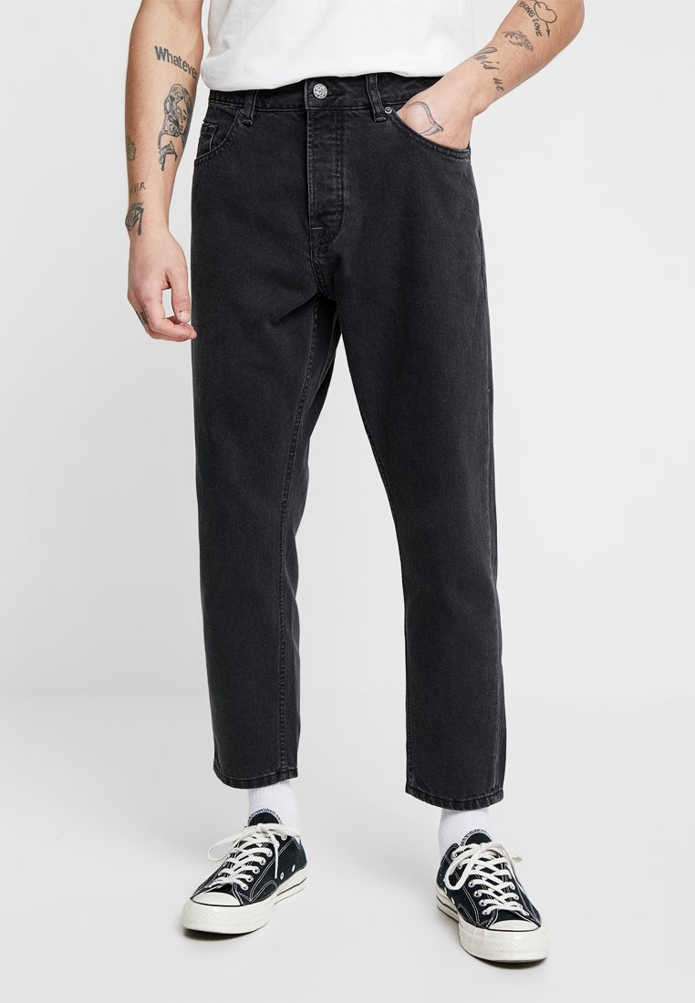 Only & Sons - ONSAVI BEAM BLACK CROPPED - Jeans Tapered Fit - black denim