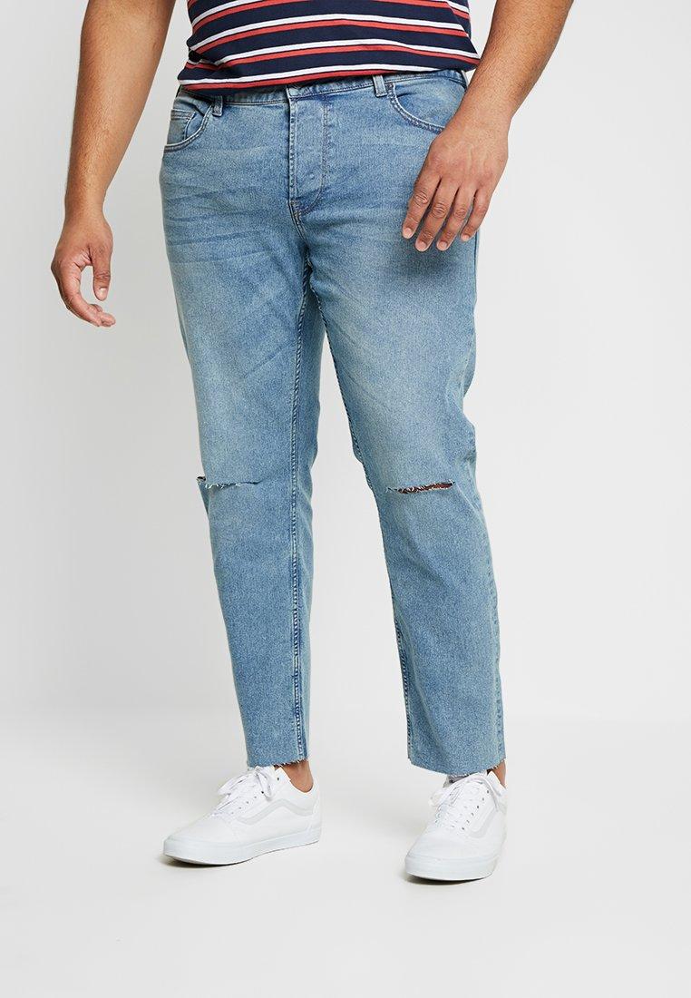 Only & Sons - ONSWARP CROP KNEECUT - Jeans Slim Fit - blue denim