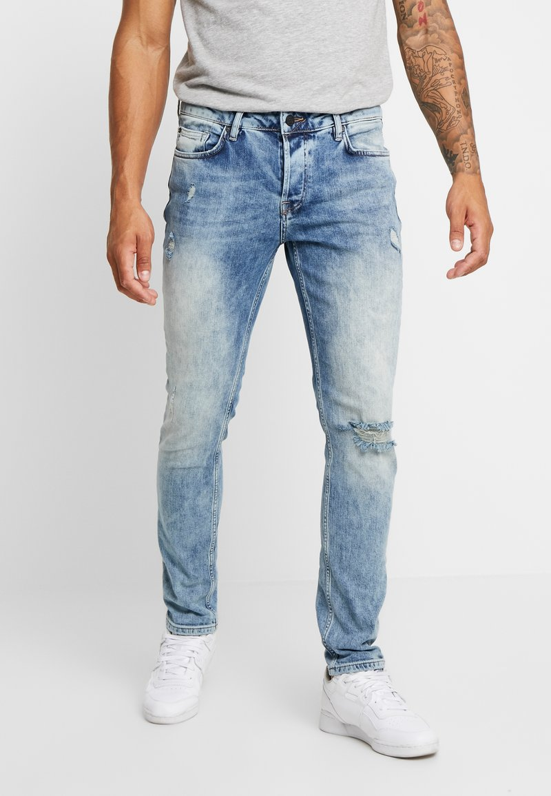 Only & Sons - ONSLOOM DAMAGE - Džíny Slim Fit - blue denim
