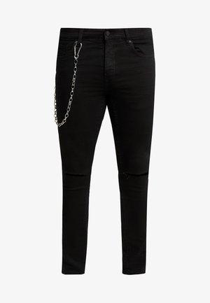 ONSWARP OVERDYED CHAIN - Jeans Skinny Fit - black denim