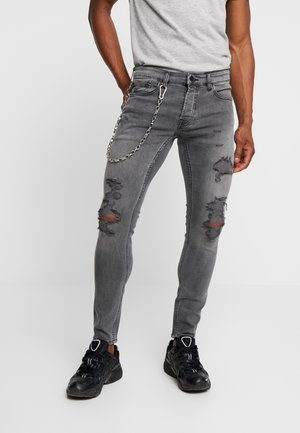 ONSWARP DAMAGE CHAIN - Jeansy Skinny Fit - grey denim