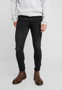 Only & Sons - ONSWARP WASHED - Jeansy Skinny Fit - black denim - 0