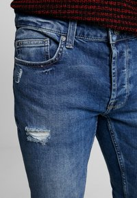 Only & Sons - ONSLOOM DAMAGE - Jean slim - blue denim - 3