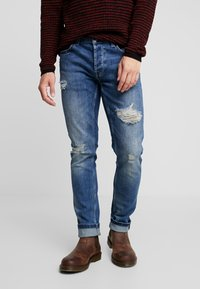 Only & Sons - ONSLOOM DAMAGE - Jean slim - blue denim - 0