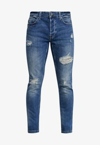 Only & Sons - ONSLOOM DAMAGE - Jean slim - blue denim - 4