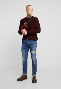 Only & Sons - ONSLOOM DAMAGE - Jean slim - blue denim - 1