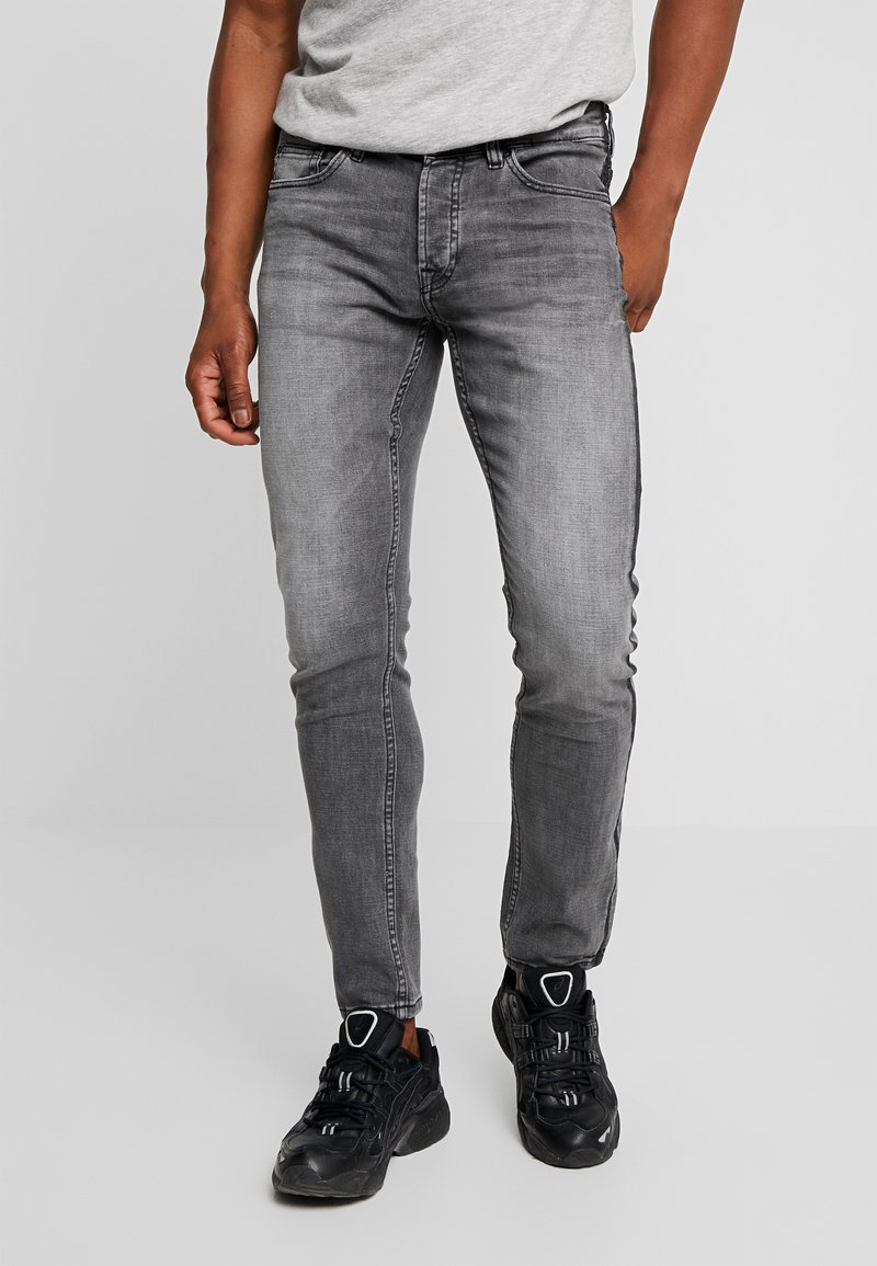Only & Sons - ONSLOOM DAMAGE SIDE STRIPE  - Slim fit jeans - grey denim