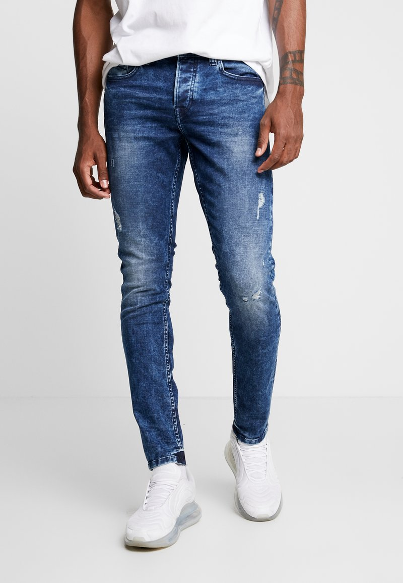 Only & Sons - ONSLOOM WASHED - Jeans Slim Fit - blue denim
