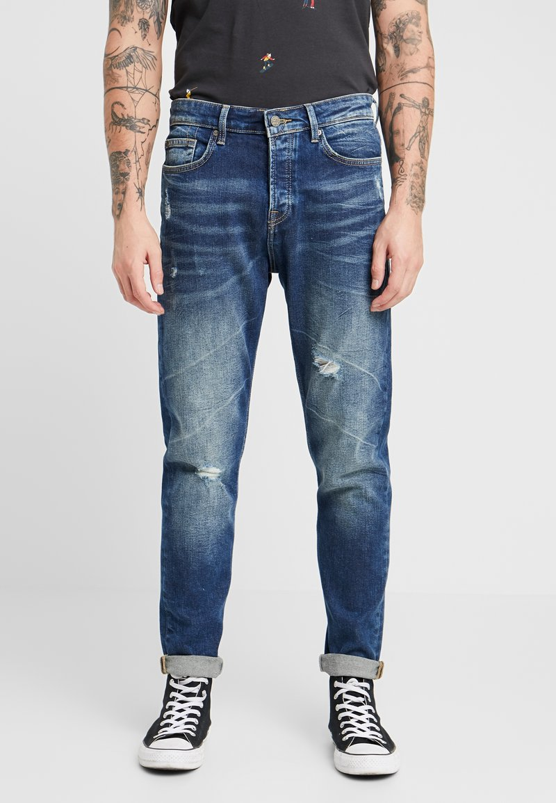 Only & Sons - ONAVI DAMEGDE BLUE - Jeansy Zwężane - blue denim